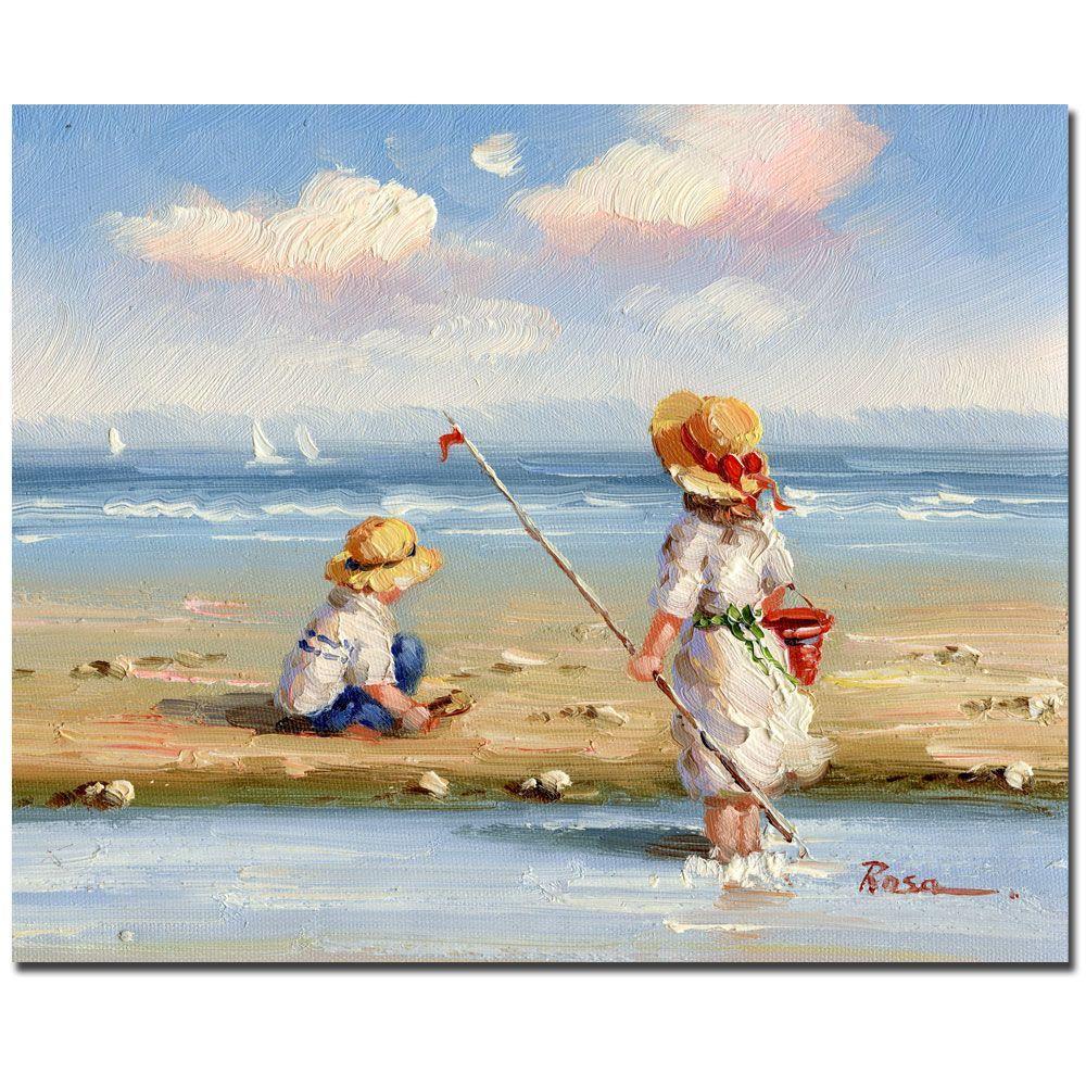 Trademark Fine Art 26 in. x 32 in. At the Beach III Canvas Art