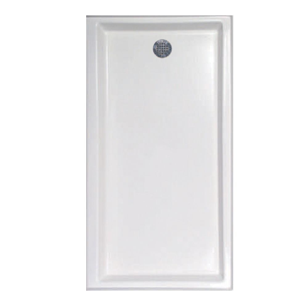 60 in. x 32 in. Single Threshold Shower Base with Right-Hand