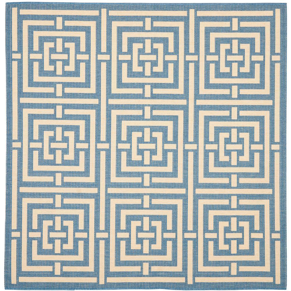 Courtyard Blue/Bone 6 ft. 7 in. x 6 ft. 7 in.