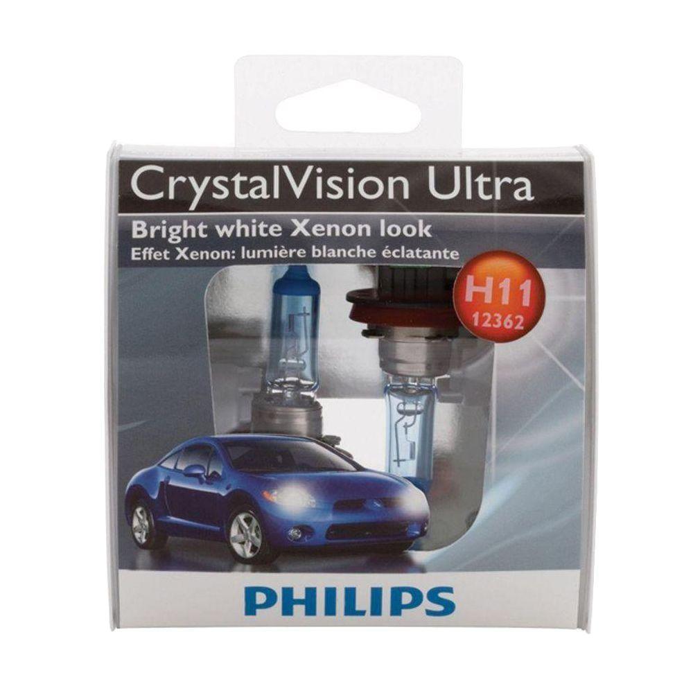 Philips CrystalVision Ultra 12362/H11 Headlight Bulb (2-Pack)