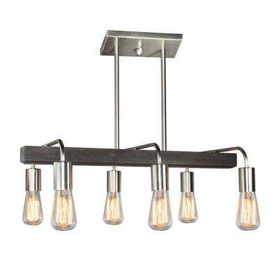 6-Light Brushed Nickel Billiard Light