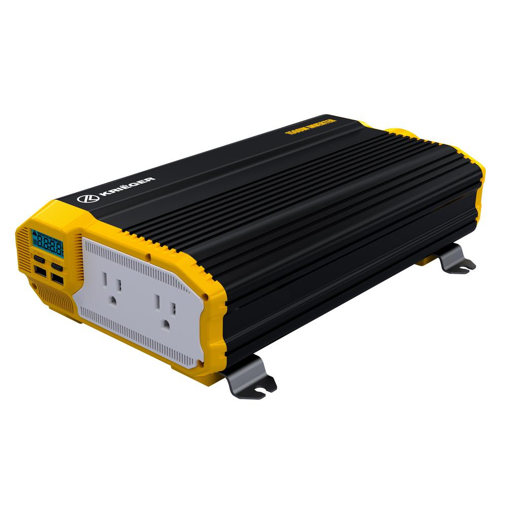 HammerDown 2000 Watt 12V Power Inverter DC 12V to 110V AC Car Inverter MET Approved to UL and CSA Power Tools Dual 110V AC Outlets Automotive Back Up Power Supply for Blenders Vacuums