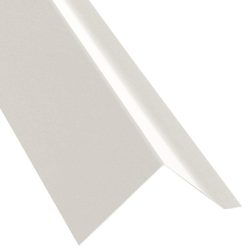 10 ft. Cotton White Eave Trim Flashing