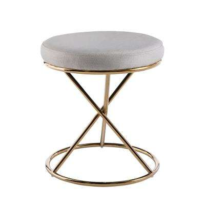 Liam 18 in. Glam Brass Small Space Stool