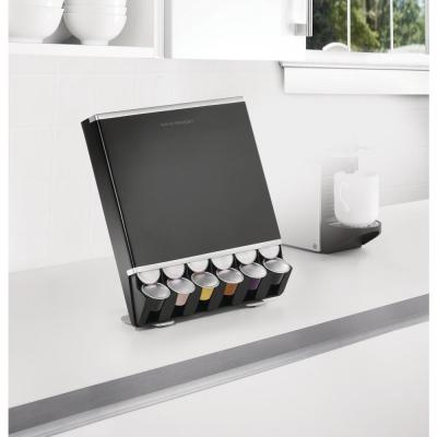 Free Fall 42-Capacity Nespresso Capsule Dispenser in Black