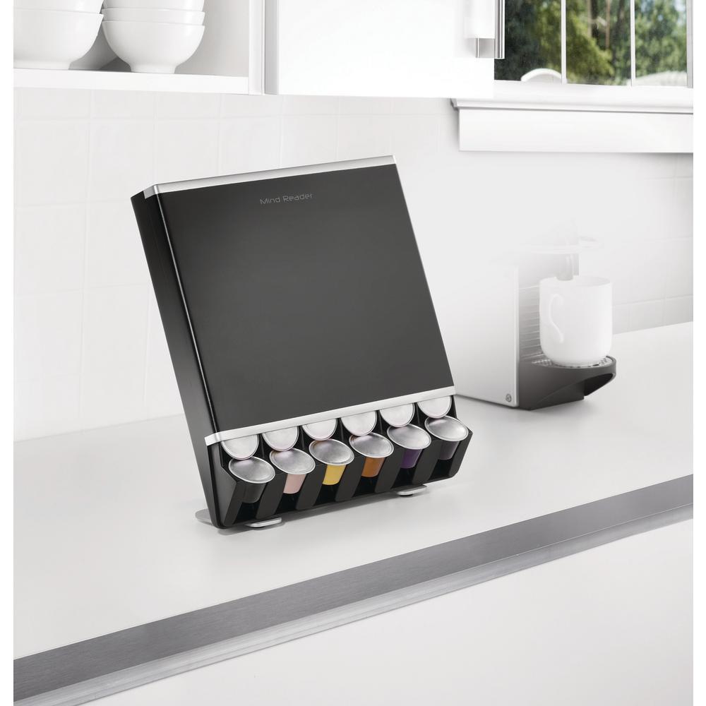 Free Fall 42-Capacity Nespresso Capsule Dispenser in Black