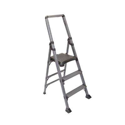 3-Step Modstep Aluminum Step Ladder with 300 lb. Load Capacity Type IA Duty Rating