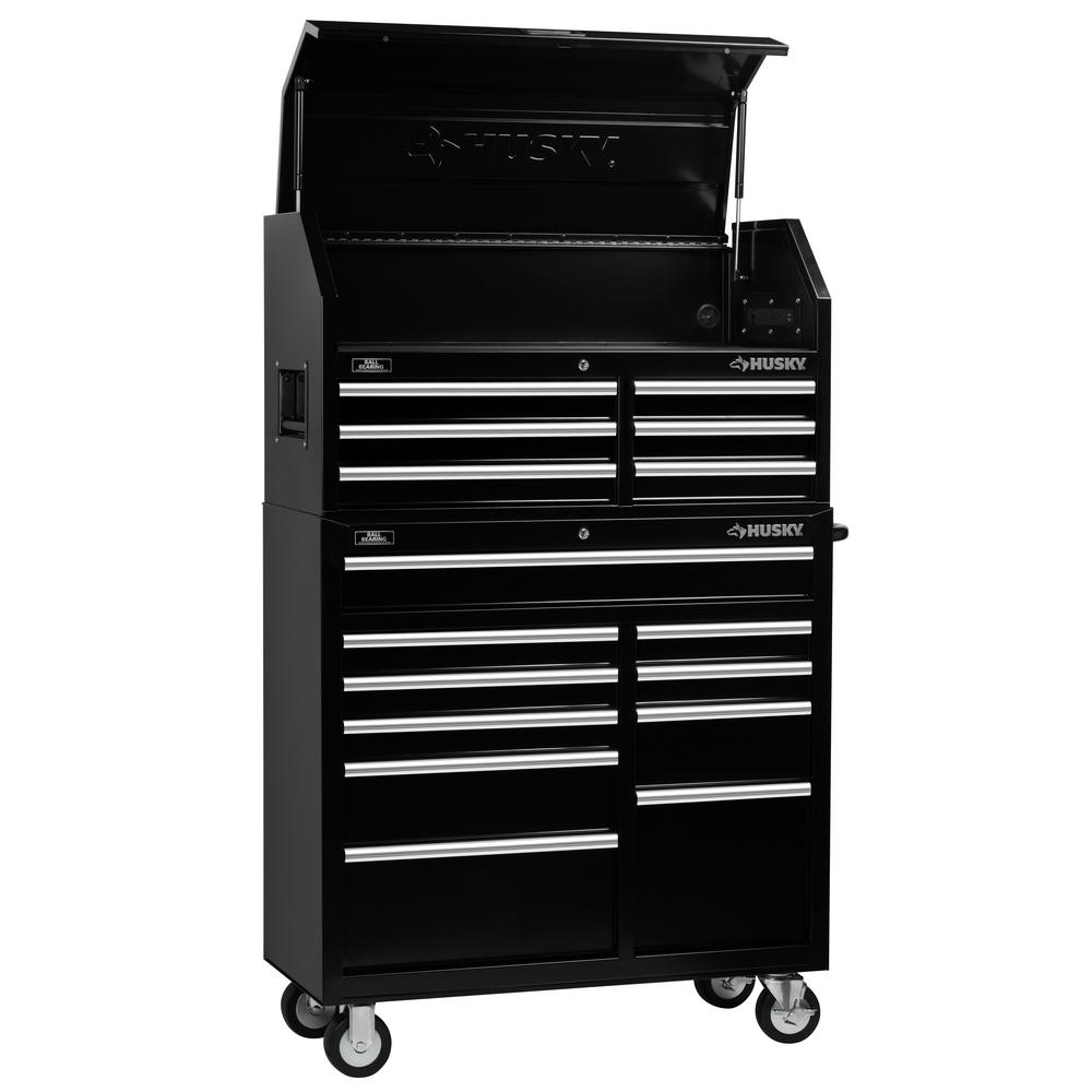 Charmant 16 Drawer Tool Chest And Cabinet Combo Black