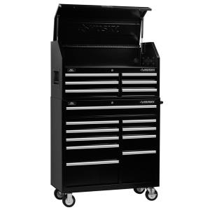 Charmant 16 Drawer Tool Chest And Cabinet Combo Black VRC 4116BK   The Home Depot