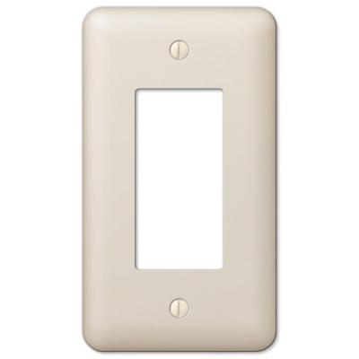 Declan 1 Gang Rocker Steel Wall Plate - Almond