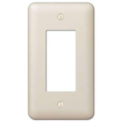 Declan 1 Rocker Wall Plate - Light Almond Steel