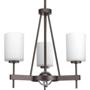 Progress Lighting Compass Collection 3-Light Antique Bronze Chandelier with Shade with... by Progress Lighting