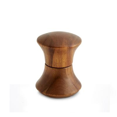 3.5 in. Contour Acacia Wood Pepper Mill