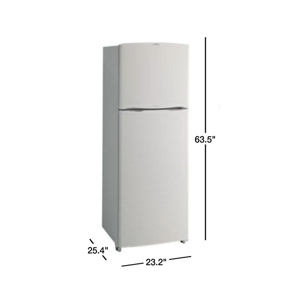 Mabe 9 0 Cu Ft Top Freezer Refrigerator In White Rmt35ub Wh