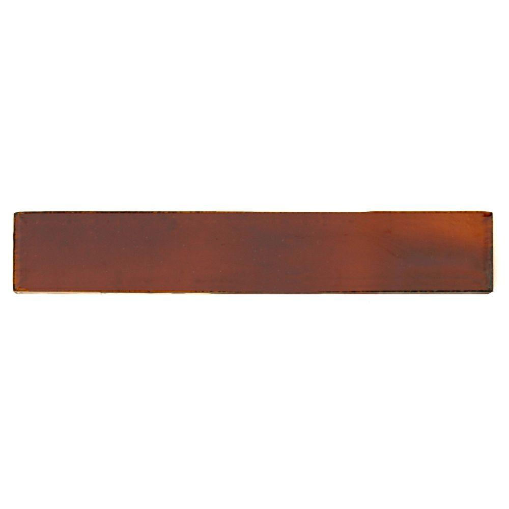 Hand-Painted Russet Red 1 in. x 6 in. Ceramic Pencil Liner