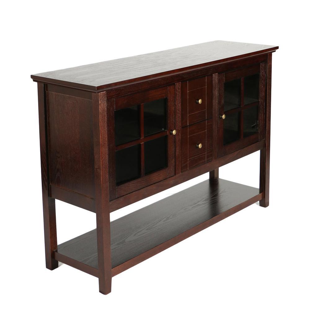 2 Walker Edison Furniture Company Espresso Buffet