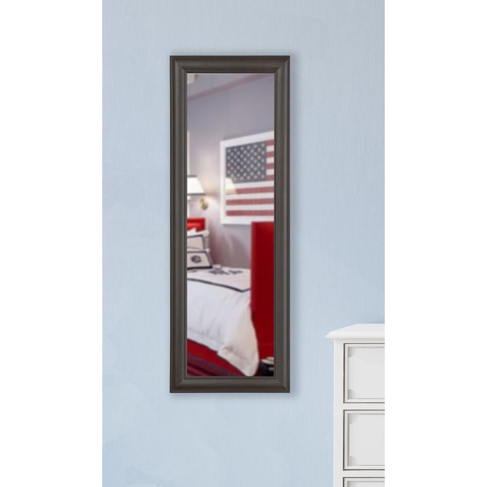 30 in. x 65 in. Vanity Brazilian Walnut Non Beveled Vanity Floor Mirror