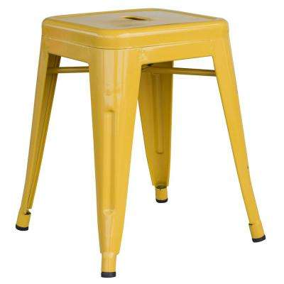 Loft Style 18 In. Gold Stackable Metal Bar Stool
