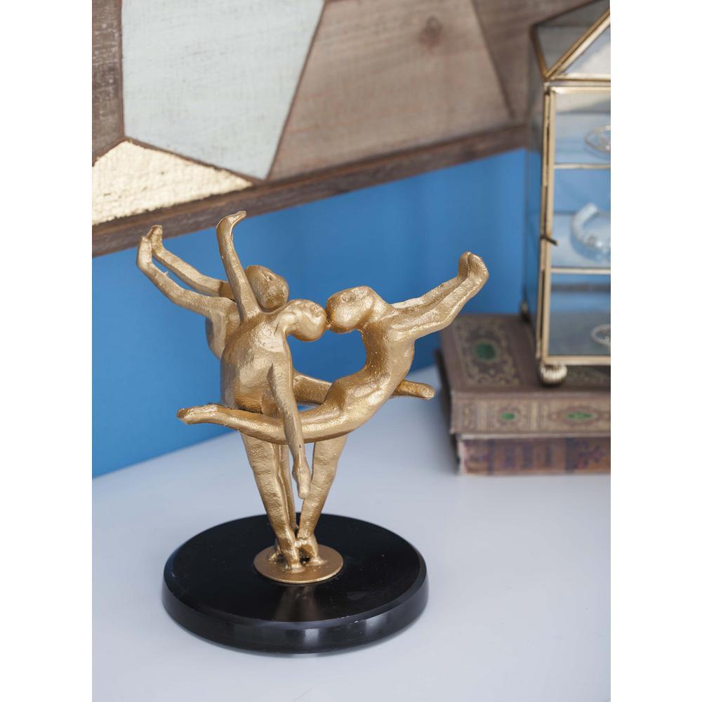 Gold Eternal Loop Metal Sculpture FHB022 Danya B