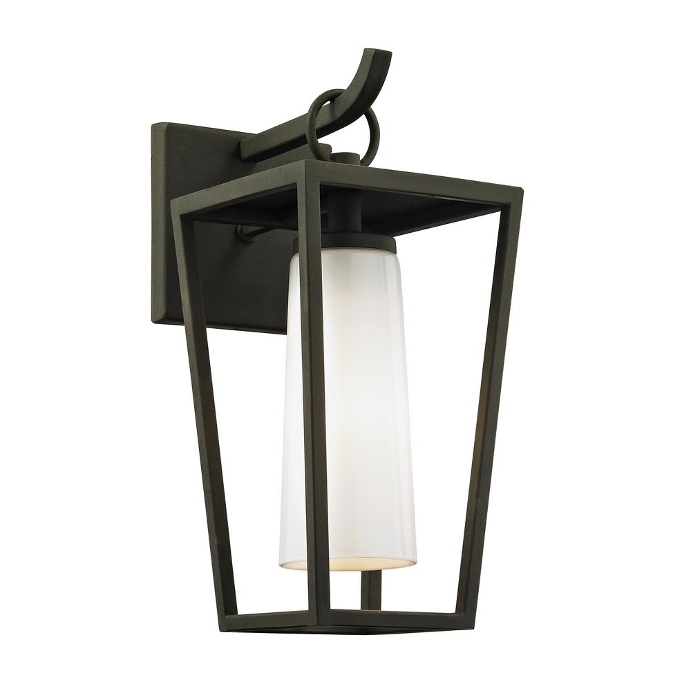 Outdoor Lighting For Beach House: Troy Lighting Mission Beach 1-Light Textured Black 13.5 In