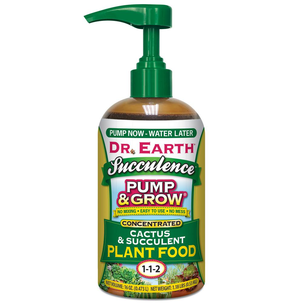 Dr Earth 16 Oz Organic And Natural Pump And Grow Succulence And Cactus Food 100537676 The Home Depot