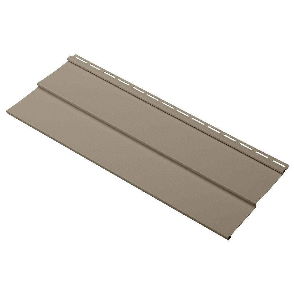 Cellwood Evolutions Double 4 in. x 24 in. Vinyl Siding Sample in Khaki