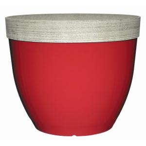 Sanibel 22 inch Firecracker Red Resin Planter by