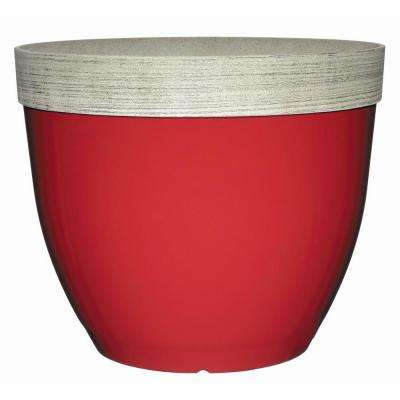 Sanibel 22 in. Firecracker Red Resin Planter