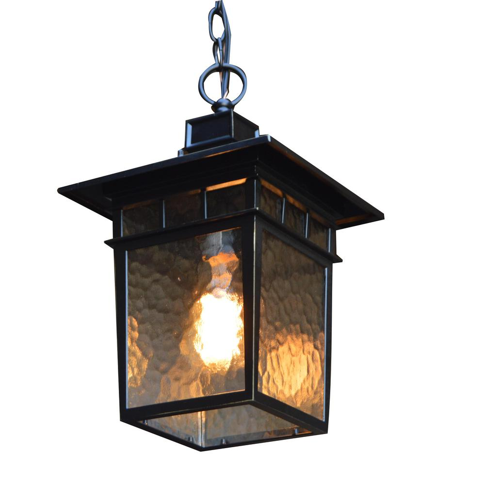 Y Decor Cullen Black 1-Light Imperial Outdoor Hanging