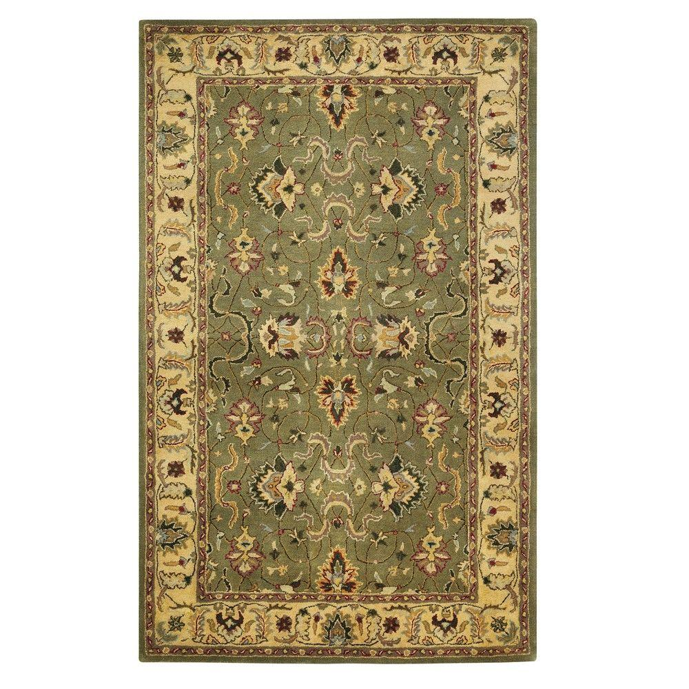 Home Decorators Collection Rochelle Green 9 Ft X 13 Ft Area Rug 4073260610 The Home Depot