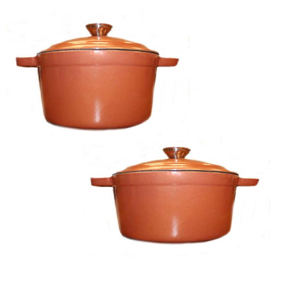 Neo 4-Piece Cast Iron Casserole Set in Copper