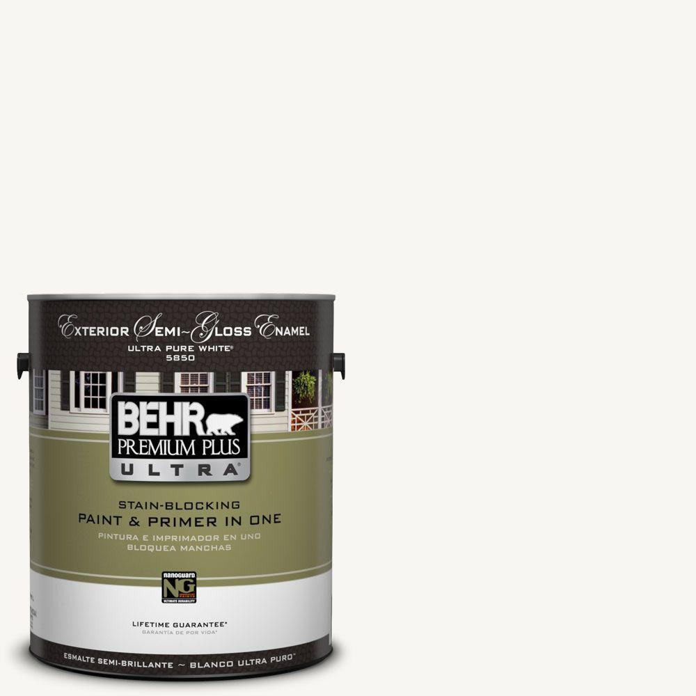 1-Gal. #UL260-14 Ultra Pure White Semi-Gloss Enamel Exterior Paint