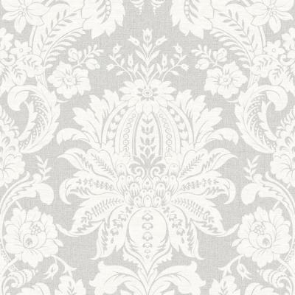 Empress Venetian Damask Gray Removable Wallpaper
