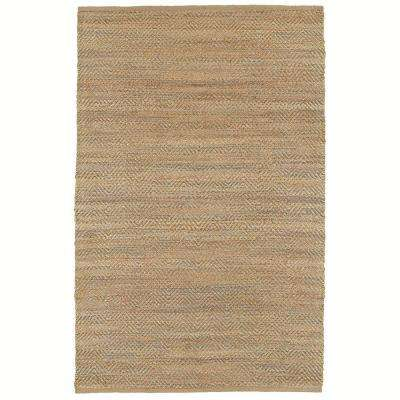 Chevron Natural Fiber Clovis Med Gray 5 ft. x 8 ft. Indoor Area Rug