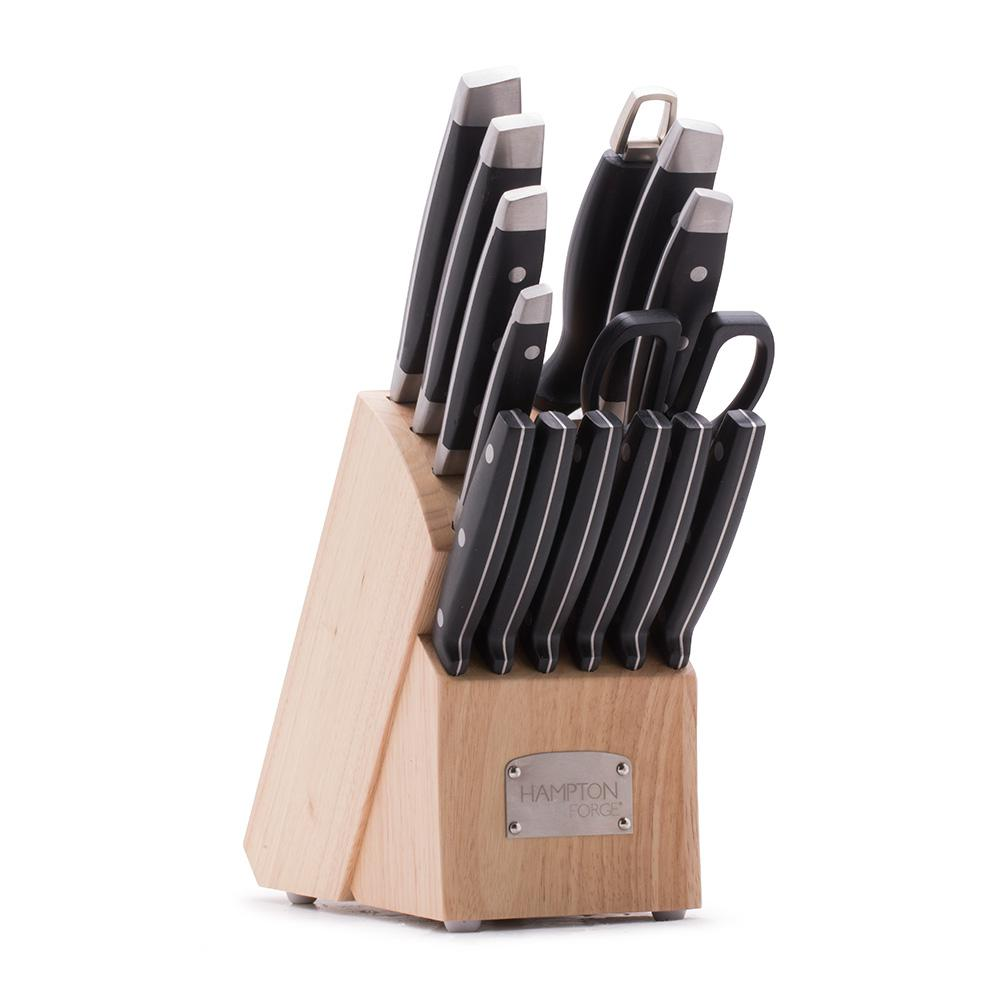 Hampton Forge Continental 15-Piece Cutlery Block Set-HMC01B030B ...