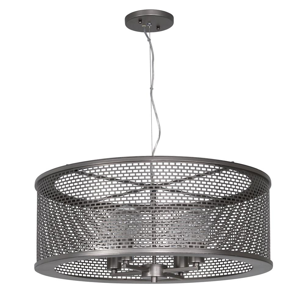 Varaluz Lit-Mesh Test 4-Light New Bronze Pendant with Recycled Steel ...