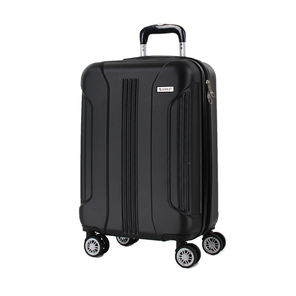Sierra Black 20 in. Carry-On Expandable Hardside Spinner Luggage