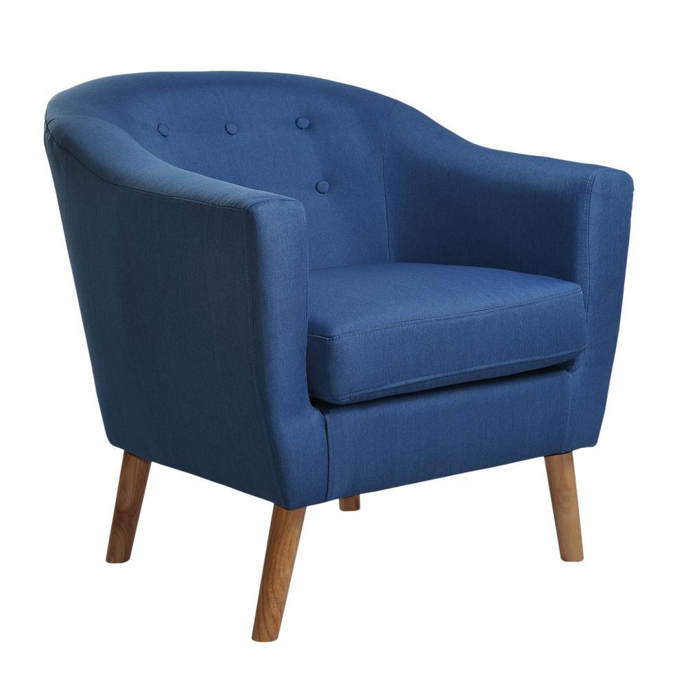 Fantastic Jason Blue Fabric Tub Chair 92003 16Bl The Home Depot Machost Co Dining Chair Design Ideas Machostcouk