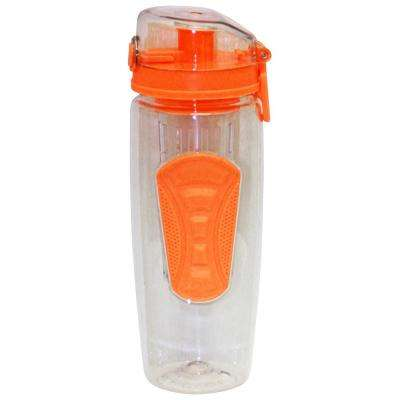 32 oz. Orange Plastic Tritan Hydration Bottle with Infuser (6-Pack)