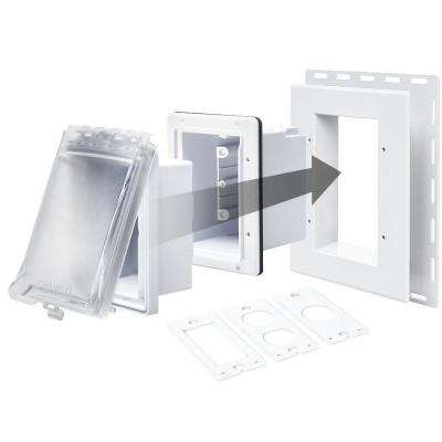 White 1-Gang 6-in-1 Weatherproof Horizontal/Vertical Non-Metallic In-Use Cover
