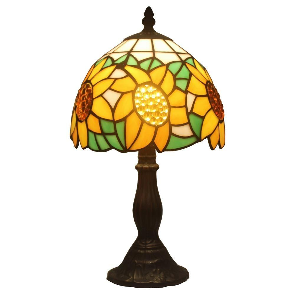 Amora Lighting 15 In Tiffany Style Sunflower Table Lamp Am118tl08