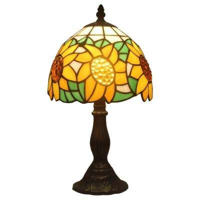 15 in. Tiffany Style Sunflower Table Lamp
