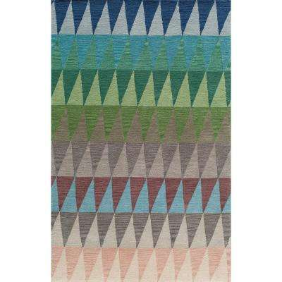 Delhi Multi Blue 8 ft. x 10 ft. Indoor Area Rug