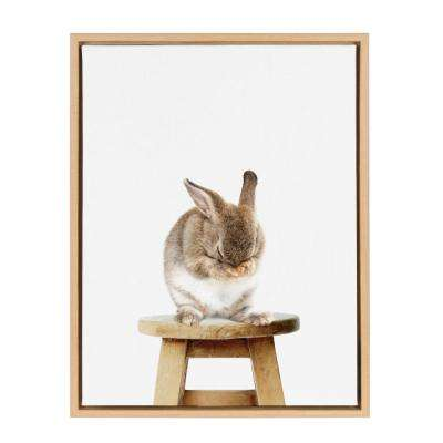 "Sylvie ""Shy Rabbit"" by Amy Peterson Framed Canvas Wall Art"