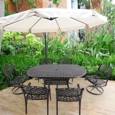 Apollo 7-Piece Cast Aluminum Outdoor Dining Set
