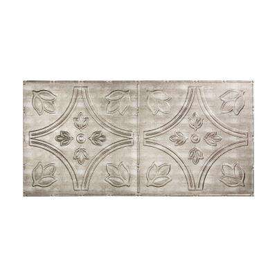 Traditional 5 - 2 ft. x 4 ft. Glue-up Ceiling Tile in Crosshatch Silver