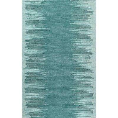 Delhi Aqua 2 ft. 3 in. X 8 ft. Indoor Runner