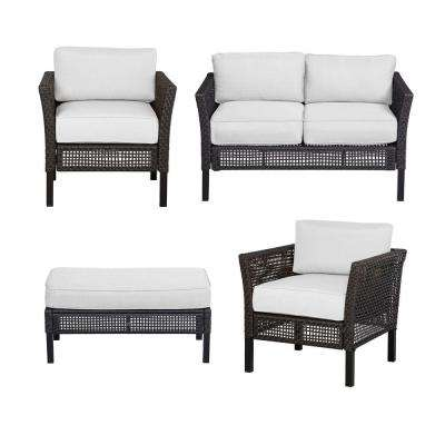 Fenton 4-Piece Patio Seating Set with Cushion Insert (Slipcovers Sold Separately)