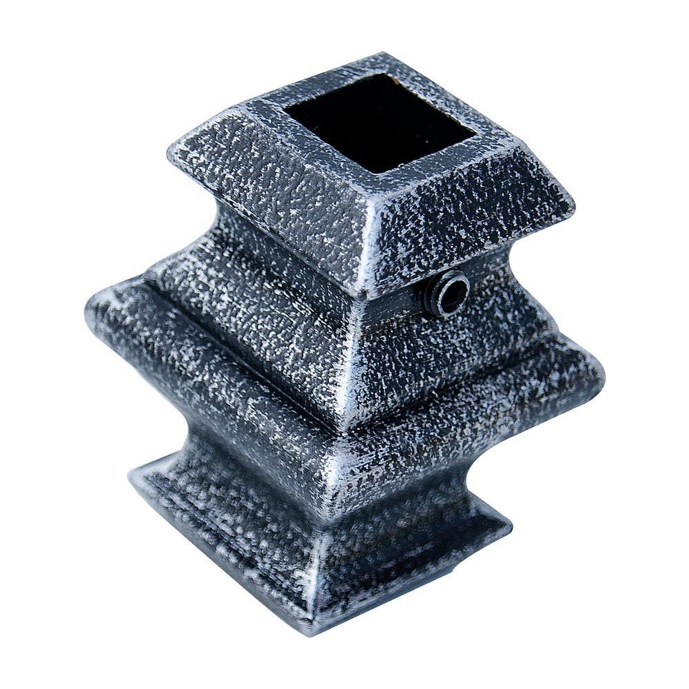 1/2 in. Vintage Nickel Metal Baluster Knuckle