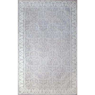 Como Aria Ivory/Dusty Grey 8 ft. x 10 ft. Area Rug